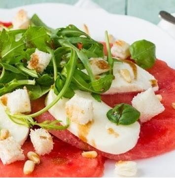 Watermeloen carpaccio